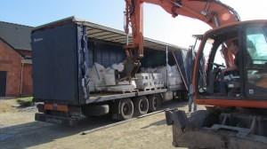 Livraison granit sur chantier